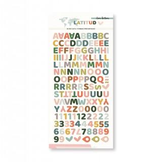 Alfabeto chipboard LATITUD