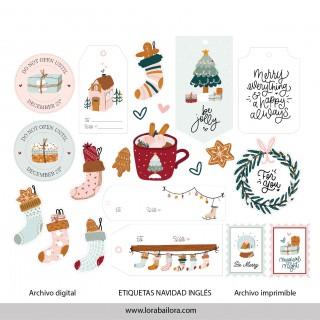 Etiquetas de Navidad Norte...