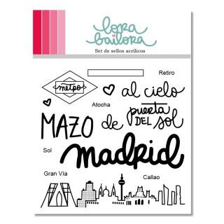 Set de sellos acrílicos Madrid