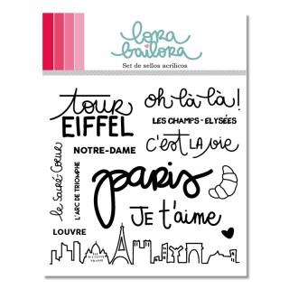 Set de sellos acrílicos París